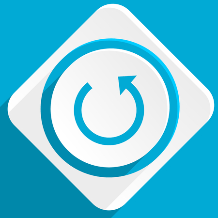 application recycle: rotate blue flat design modern icon for web and mobile app Stock Photo