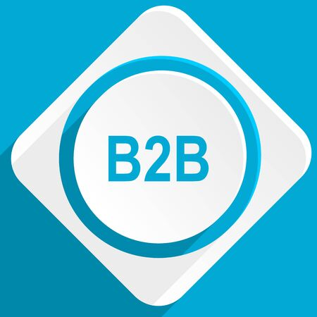 cooperate: b2b blue flat design modern icon for web and mobile app