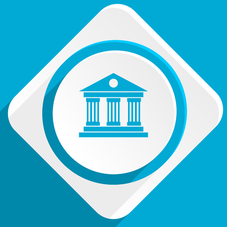 acropolis: museum blue flat design modern icon for web and mobile app