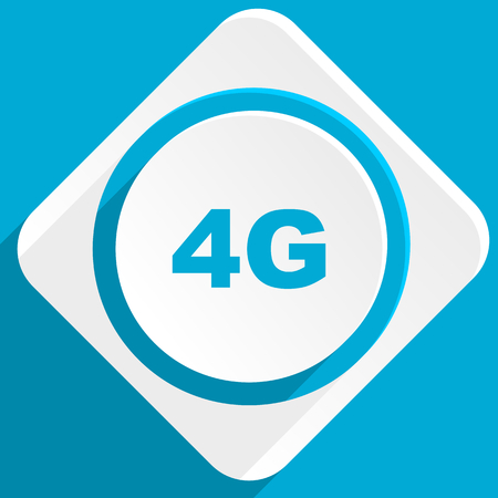 4g: 4g blue flat design modern icon for web and mobile app Stock Photo