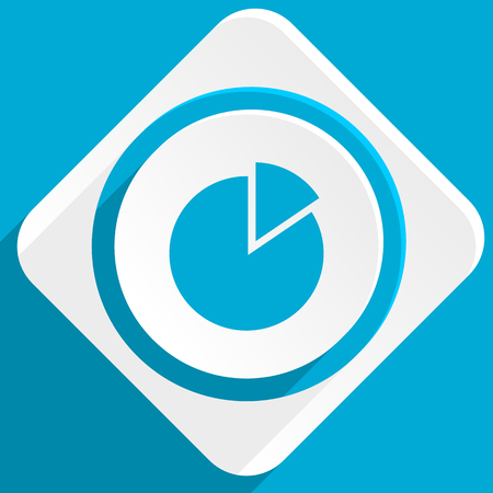 economic interest: chart blue flat design modern icon for web and mobile app Stock Photo