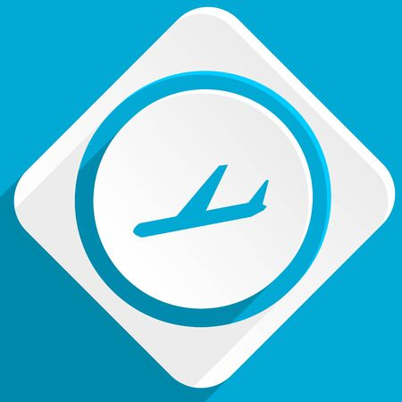 arrivals: arrivals blue flat design modern icon for web and mobile app