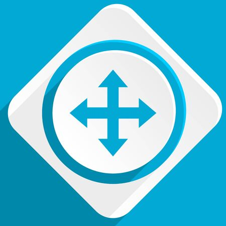 sterring: arrow blue flat design modern icon for web and mobile app