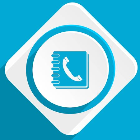 phonebook: phonebook blue flat design modern icon for web and mobile app Stock Photo