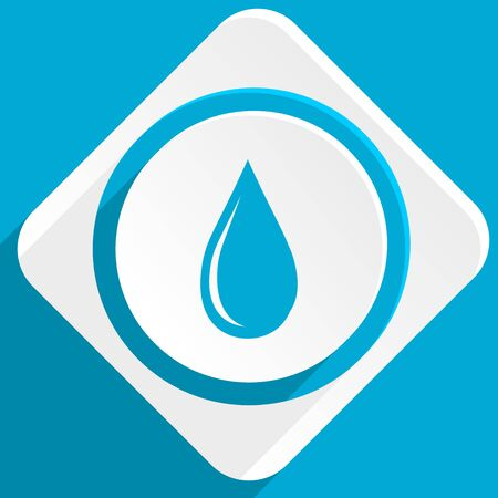 waterdrop: water drop blue flat design modern icon for web and mobile app Stock Photo