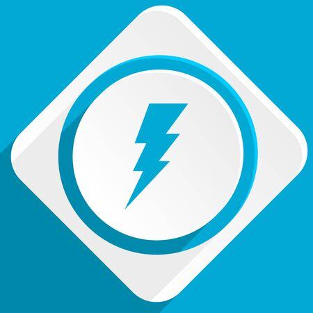 amperage: bolt blue flat design modern icon for web and mobile app