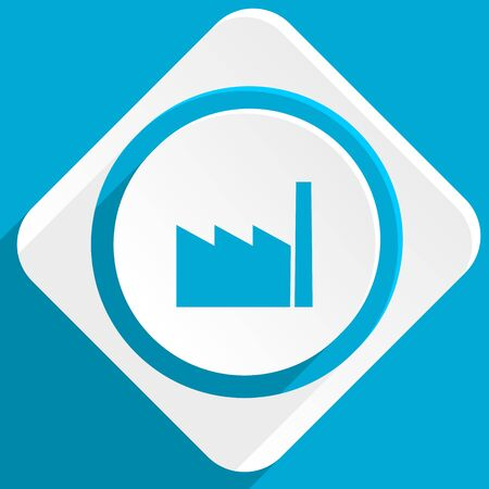 industrialist: factory blue flat design modern icon for web and mobile app Stock Photo