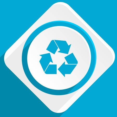 application recycle: recycle blue flat design modern icon for web and mobile app