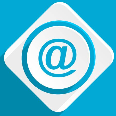 secretariat: email blue flat design modern icon for web and mobile app Stock Photo