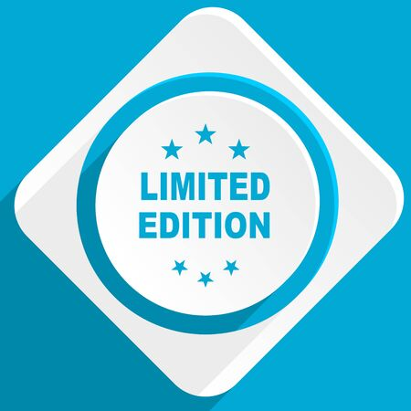 limited edition: limited edition blue flat design modern icon for web and mobile app