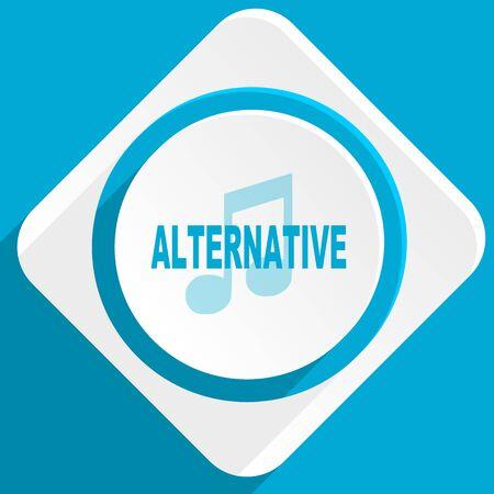 alternative: alternative music blue flat design modern icon for web and mobile app Stock Photo