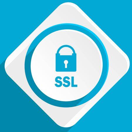 ssl: ssl blue flat design modern icon for web and mobile app