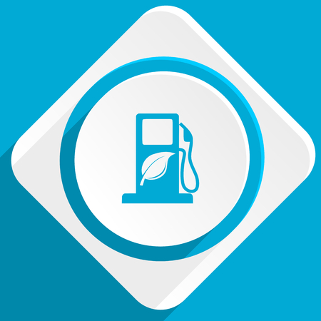 biofuel: biofuel blue flat design modern icon for web and mobile app Stock Photo