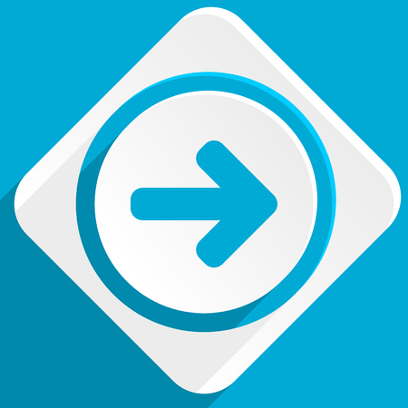 navigation panel: right arrow blue flat design modern icon for web and mobile app