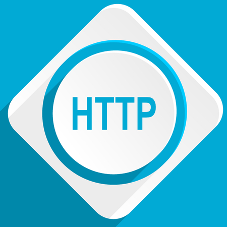 http: http blue flat design modern icon for web and mobile app
