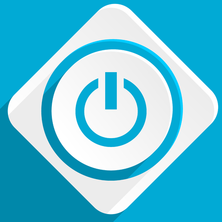 run off: power blue flat design modern icon for web and mobile app Stock Photo