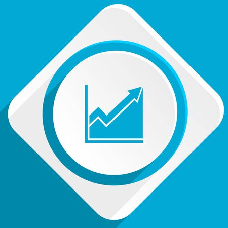 histogram: histogram blue flat design modern icon for web and mobile app
