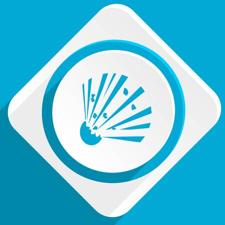 explosion hazard: bomb blue flat design modern icon for web and mobile app