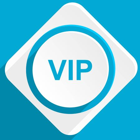 celebrities: vip blue flat design modern icon for web and mobile app Stock Photo