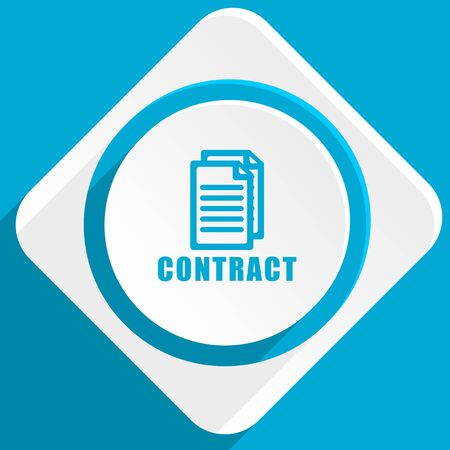 icom: contract blue flat design modern icon for web and mobile app