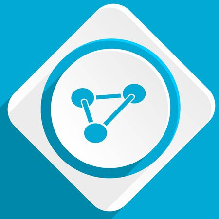 chemical industry: chemistry blue flat design modern icon for web and mobile app
