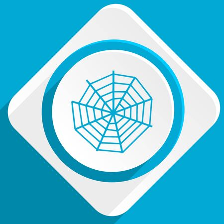 spider web: spider web blue flat design modern icon for web and mobile app