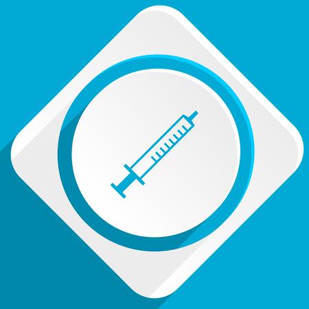 flu vaccine: medicine blue flat design modern icon for web and mobile app