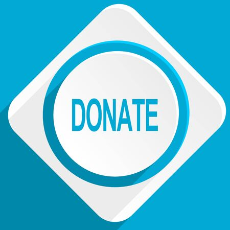 aiding: donate blue flat design modern icon for web and mobile app Stock Photo