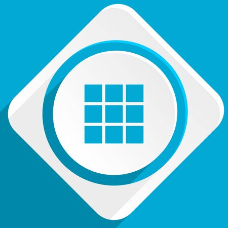 thumbnails: thumbnails grid blue flat design modern icon for web and mobile app Stock Photo