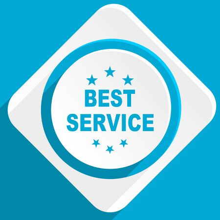 best service: best service blue flat design modern icon for web and mobile app