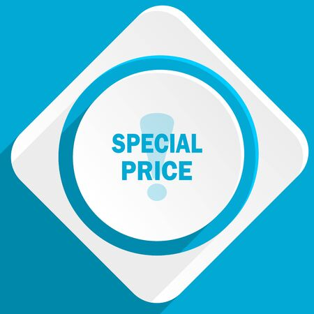 special price: special price blue flat design modern icon for web and mobile app Stock Photo