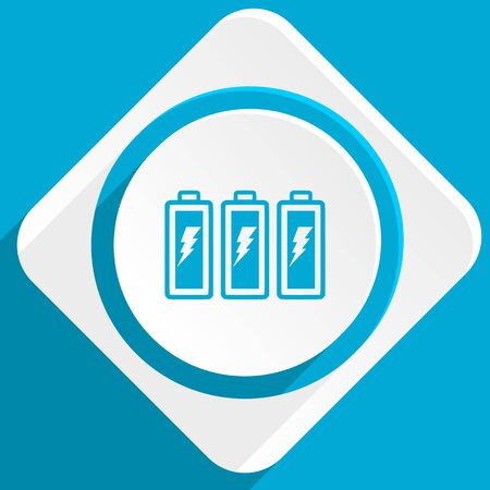 accuse: battery blue flat design modern icon for web and mobile app