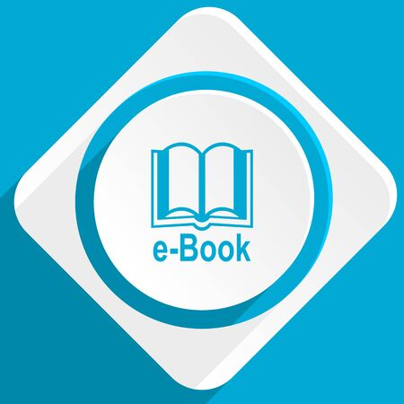 mobile application: book blue flat design modern icon for web and mobile app