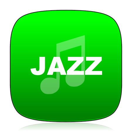 genre: jazz music green icon for web and mobile app