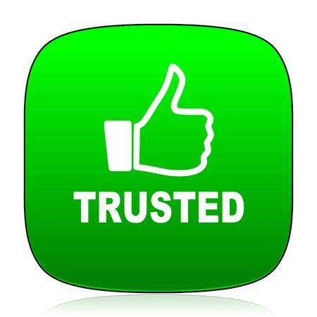 trusted: trusted green icon for web and mobile app