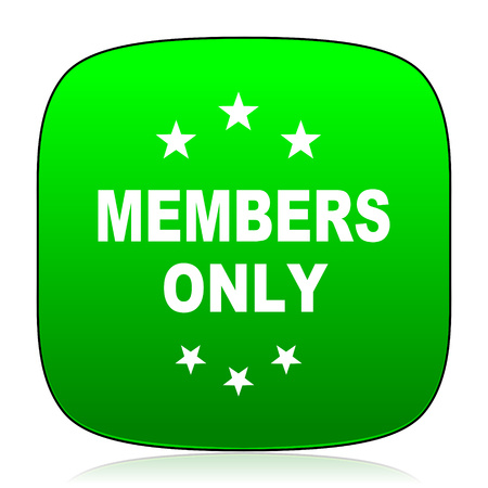 members only: members only green icon for web and mobile app Stock Photo