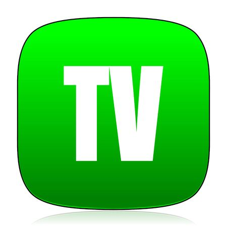 programm: tv green icon for web and mobile app