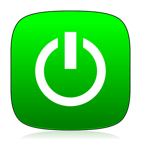 green power: power green icon for web and mobile app