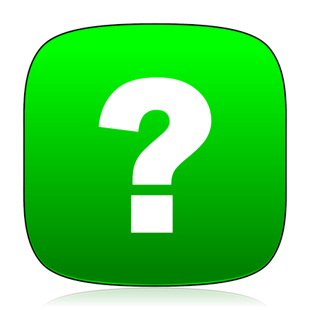 answers: question mark green icon for web and mobile app
