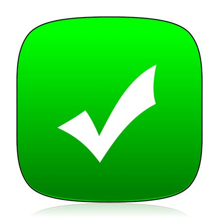 accept icon: accept green icon for web and mobile app