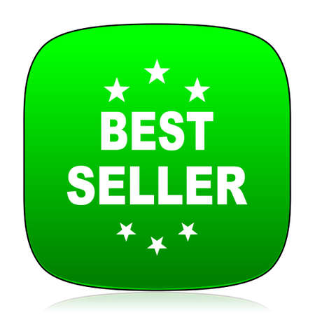 seller: best seller green icon for web and mobile app