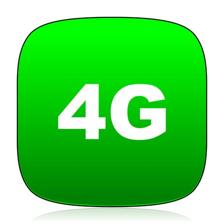 telephony: 4g green icon for web and mobile app