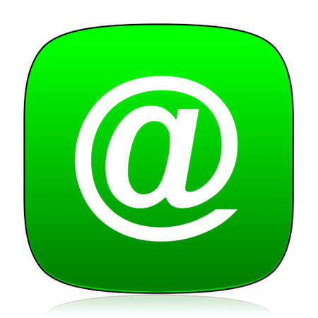 contacting: email green icon for web and mobile app
