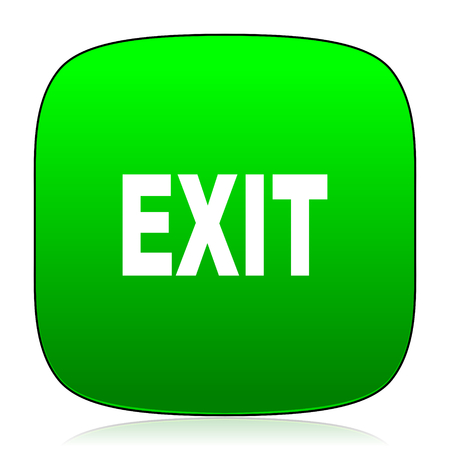 ways to go: exit green icon for web and mobile app