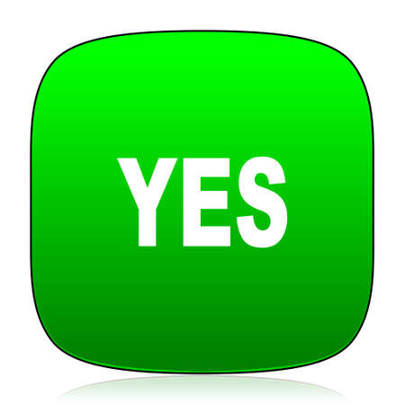 yea: yes green icon for web and mobile app