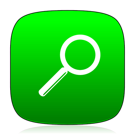magnification icon: search green icon for web and mobile app