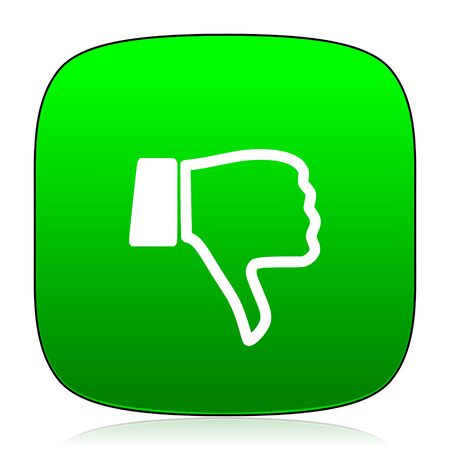dislike: dislike green icon for web and mobile app