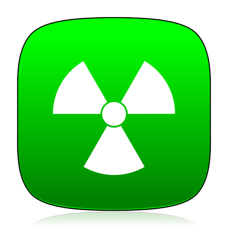 nuclear safety: radiation green icon for web and mobile app