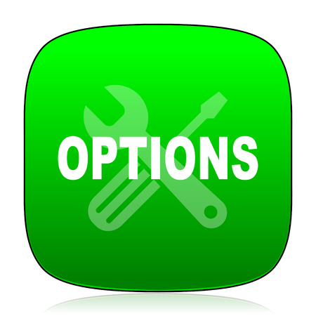 customization: options green icon for web and mobile app Stock Photo
