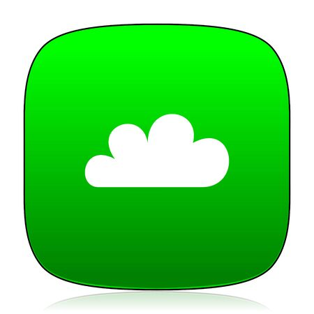 predict: cloud green icon for web and mobile app